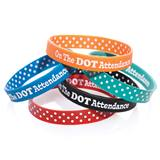 Two Way Wristband - On the Dot Attendance, Assortment, 25/pkg