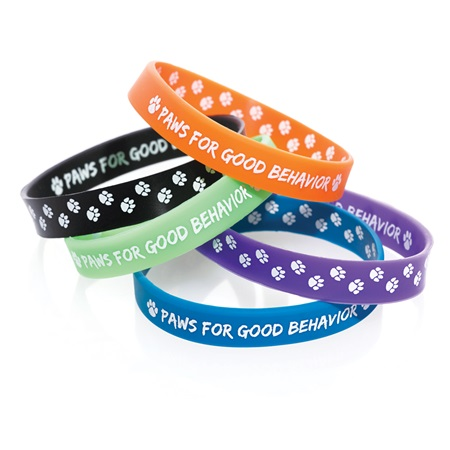 Two Way Wristband -  Paws For Good Behavior, Assortment, 25/pkg