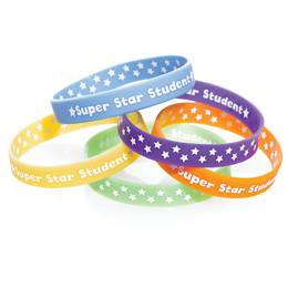 Two Way Wristband - Super Star Student, Assortment, 25/pkg