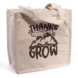 Thanks For Helping Us Grow Heavyweight Tote Bag