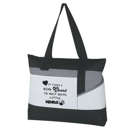 Appreciation Tote Bag - It Takes a Big Heart to Help Shape Little Minds
