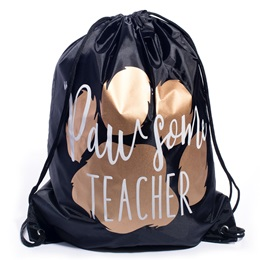 Drawstring Bag - Pawsome Teacher
