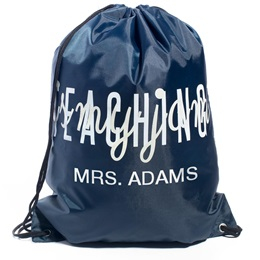 Personalized Drawstring Bag -  Teaching is My Jam