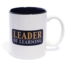 Coffee Mug with Black Accents - Leader of Learning