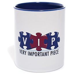 White Ceramic Coffee Mug - VIP (Very Important Piece)