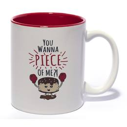 White Ceramic Coffee Mug - You Wanna Piece of Me?