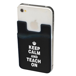 Mobile Device Pocket - Keep Calm and Teach On