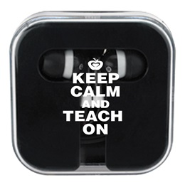 Ear Buds in Case -  Keep Calm and Teach On