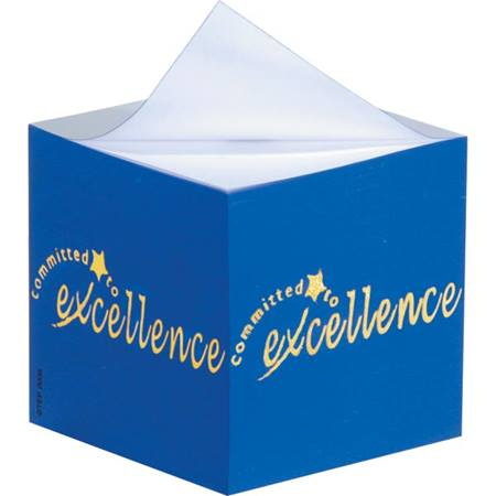 Sticky Note Cube – Committed to Excellence