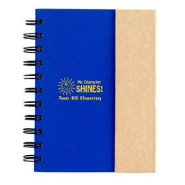 Small Spiral Notebook With Sticky Notes and Pen