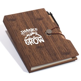 Thanks For Helping Us Grow Wood Grain Notebook