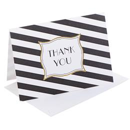 Striped Thank You Note Cards
