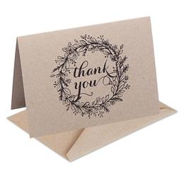 Kraft Thank You Note Cards
