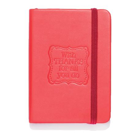 """Thanks for All You Do"" Hard Cover Mini Journal"