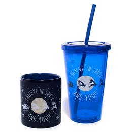 Mug and Tumbler Gift Set - I Believe in Santa