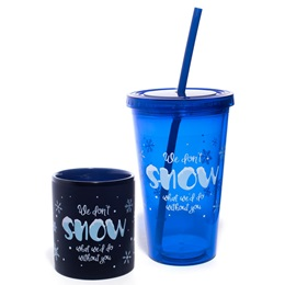 Mug and Tumbler Gift Set - We Don't Snow