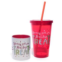 Mug and Tumbler Gift Set - Holiday Treat