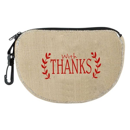 """With Thanks"" Burlap U-Bag"