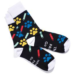 Full-color Socks - When the Pencils Go Down the PAWS Go Up