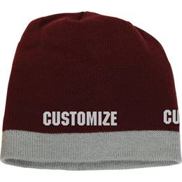 Knit Cap With Colored Edge