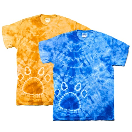 Paw print tie dye t shirt adult size anderson 39 s for Tie dye t shirt printing
