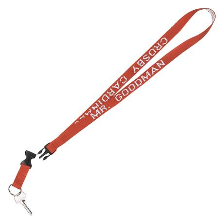 Personalized Neck Strap With Split Ring and Take-Apart Buckle