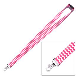 Neon Neck Strap - Chevron