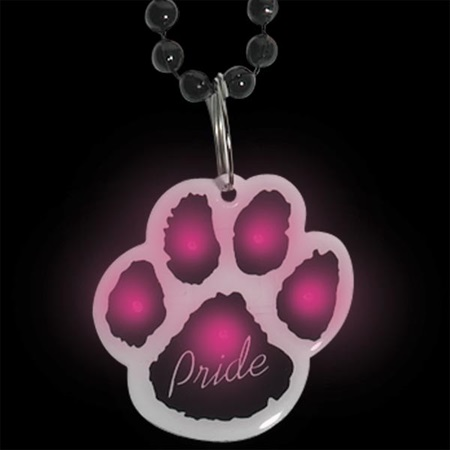 Blinking Paw Medallion Necklace