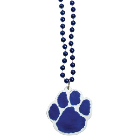 Blue Paw Medallion Necklace