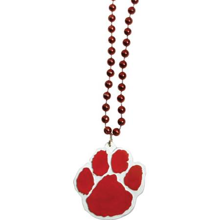 Red Paw Medallion Necklace