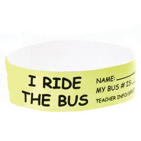 I Ride the Bus Wristband