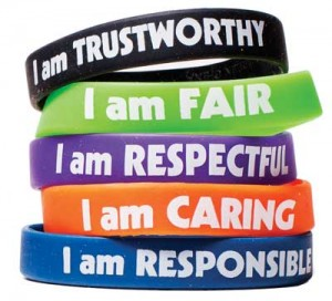middle school character wristbands