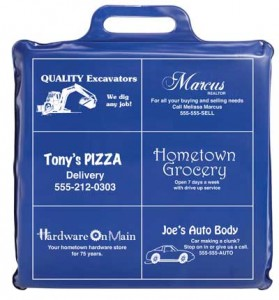 Put sponsors' ads on the back of Seat Cushions!