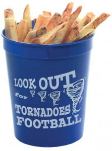 Fill stadium cups with treats and use them as a football team giveaway or fundraiser.