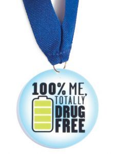 100% Me Totally Drug Free_Medallion