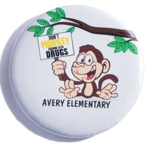 Don't Monkey Around with Drugs_Button