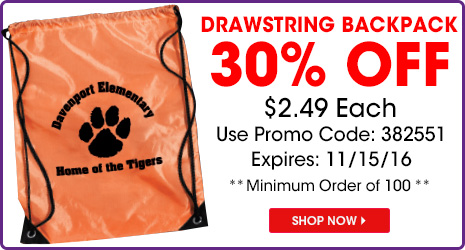 30% Off Drawstring Backpack