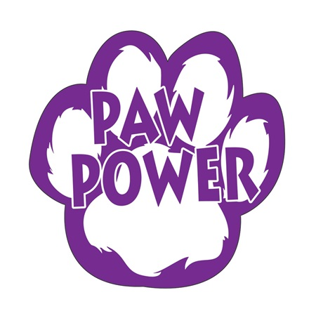 Paw Power Bumper Magnet - Purple