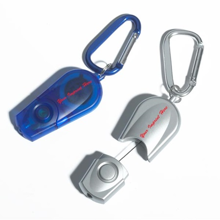 Retractable Flashlight Key Chain