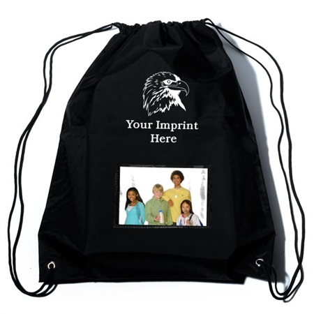 Drawstring Backpack with Photo Slot