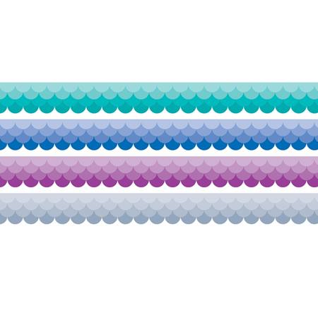 Classroom Display Border Pack - Cool Ombre Scallops