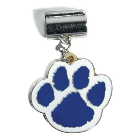Pencil Charm - Blue/White Paw