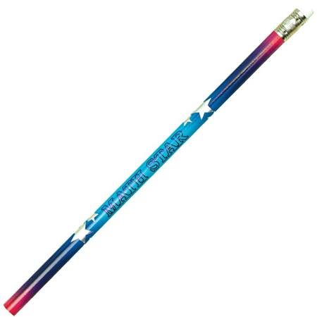 School Subject Pencil - Math Star With White Stars