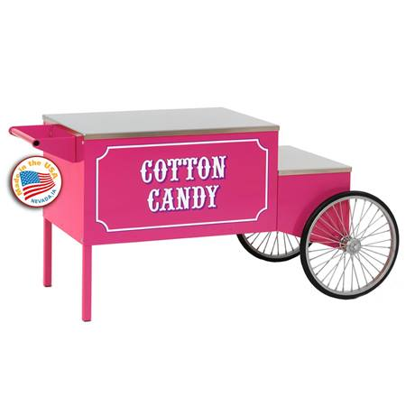 Large Pink Cotton Candy Cart