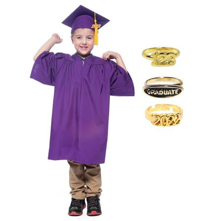 Child's Graduation Ring Set - Matte