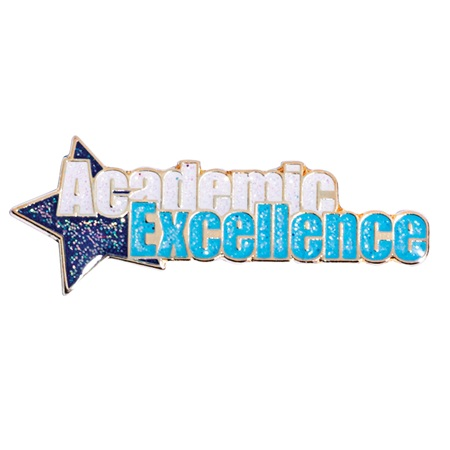 Academic Excellence Award Pin - Blue Star