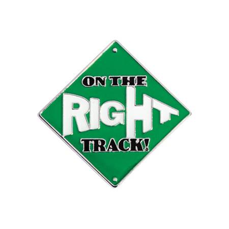 Academic Excellence Award Pin - On the Right Track Mini