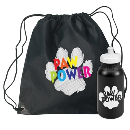 Paw Pride Backpack and Water Bottle Set