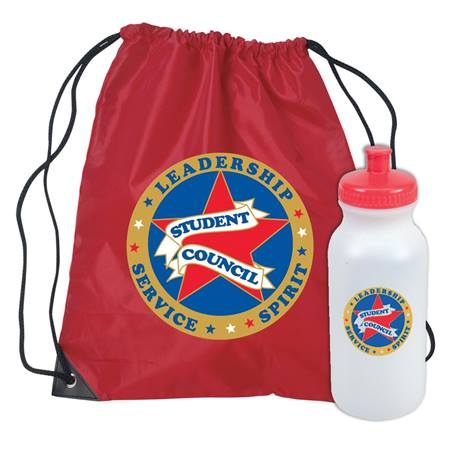Student Council Backpack and Water Bottle Set