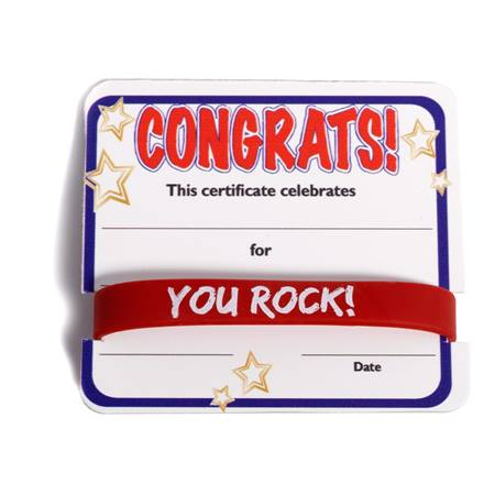 Mini Certificate/Wristband Set - Congratulations